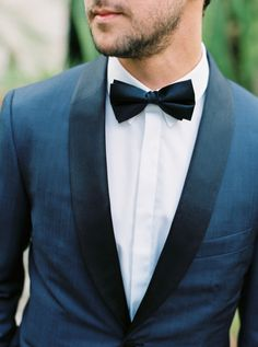 A blue suit +  bowtie: http://www.stylemepretty.com/little-black-book-blog/2016/07/13/soap-opera-stars-wedding-better-than-any-daytime-tv-love-story/ | Photography: Sarah Kate - http://sarahkatephoto.com/