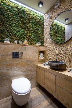 Bathroom eco-design with small vertical gardens - # Check more at bade. Bathroom eco-design with small vertical gardens - # Check more at bade. Bathroom Plants, Bathroom Wall Decor, Bathroom Interior Design, Master Bathroom, Bathroom Ideas, Bathroom Designs, Bathroom Small, Bathroom Remodeling, Bathroom Layout