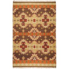 Surya Jewel Tone Ii x Rectangle Wool Hand Woven Southwestern Area Rug, Size: Wool Area Rugs, Blue Area Rugs, Wool Rug, Rustic Area Rugs, Southwestern Area Rugs, Target Rug, Thing 1, Orange Rugs, Rug Shapes