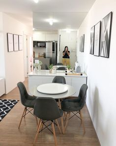Living Room Decor, Dining Room, Dining Table, Tiny Spaces, Wood Design, Minimalist Design, Decorating Tips, Decoration, My House