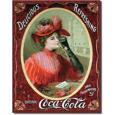 Coca Cola – Vintage Poster Design - Just Coca Cola Vintage, Pin Up Vintage, Images Vintage, Vintage Ads, Vintage Signs, Vintage Pictures, Dress Vintage, Vintage Style, Coca Cola Poster