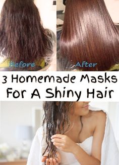 All women dream about a perfect, long and shiny hair. Find out 3 homemade masks for a shiny hair!