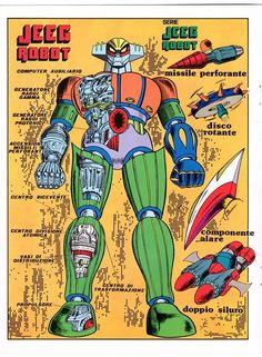 Jee Robot d'acciaio – Poster Tivù #4 di Noi Supereroi #20 (1981) - Go Nagai World
