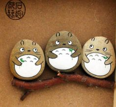 Hand-painted Totoro 3 friends