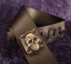 This quality strap is made of low friction Duralon material providing both durability & comfort. A great material that looks like it will last forever. Synyster Gates, Metal Skull, Avenged Sevenfold, Rebel, Cuff Bracelets, Guitar, Gold, Electric, Black