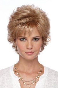 """Estetica Design MANDY PSC. 3-5.5"""" LAYERED TOP W/ FLIP Womens Wig CARAMELKISS Color by Estetica Design. $94.99. authentic, wig, wigs. Full wigs, Estetica. Womens hair, Beauty. Short Layered Cut with Flip in the Back"""