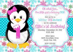 1st Birthday Invitation/Winter ONEderland by jcbabycakes on Etsy