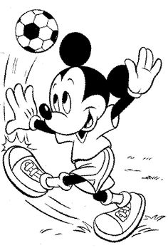Mickey Mouse Cartoon Coloring Pages