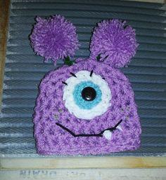 Baby Girl Monster hat valentine valentines by BellaMariesboutique