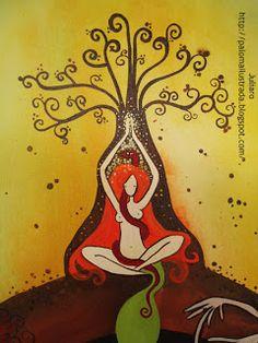 Bencidión de útero- Womb Blessing   Mandala femenina.   Imagen canalizada en la primera bendición de útero de Miranda Gray    el dia 7 ...