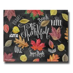 Fall Decor, Chalkboard Art, Chalk Art, Fall Art, Fall Decorations, Fall Leaves, Thanksgiving Decor, Chalkboard Sign, Be Thankful