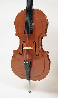 LEGO VIOLIN----sorry, as a REAL violinist, i must correct, this is a CELLO!!! Violin Quotes, Cello, Music Is Life, Music Instruments, Musical Instruments, Cellos
