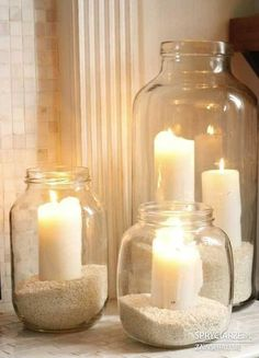 Perfect candle ideas for a beach wedding