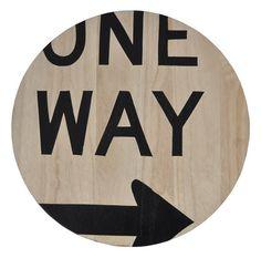 One Way Sign Artwork