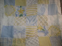 Baby  Vintage Chenille Quilt