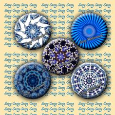 Kaleidoscope Pendant Circles for Magnets by SassyCraftsBoutique, $2.22