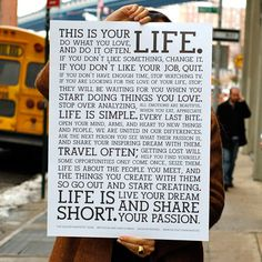 The Holstee Manifesto Poster, $36, now featured on Fab.