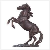 Rearing stallion sculpture hot cast bronze horse collectable for bonsai tree