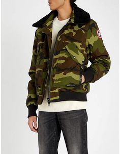 2cd0170514ba4 Canada Goose Bromley camouflage-print shearling and shell-down bomber jacket