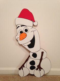 OLAF from FROZEN CHRISTMAS yard art decoration by PlayfulYardArt, $89.99