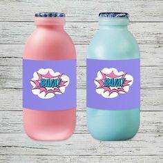 Supergirl Party Drink Labels | Jackal Design