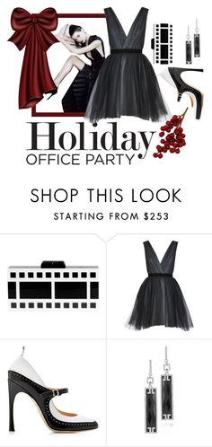 """Holiday Office Party"" by conch-lady ❤ liked on Polyvore featuring Alice + Olivia, Thom Browne and Ivanka Trump"