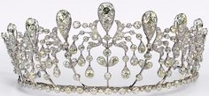 Bourbon Parme Tiara: This is one of those rare tiaras that has managed to become fairly well known despite the fact that it isn't owned by a reigning royal family, and wasn't ever worn by a hugely famous royal. It does have royal roots, as it was initially a wedding gift for a royal marriage. Made in 1919 it was bought by the Duchess & Duke of Doudeauville . She gave it to her daughter, Hedwige de La Rochefoucauld (1896-1986), for her marriage to Prince Sixtus of Bourbon-Parma that same…