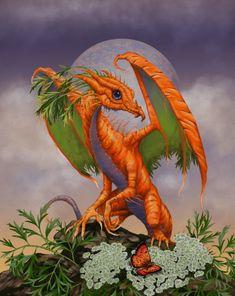 Carrot Digital Art - Carrot Dragon by Stanley Morrison Magical Creatures, Fantasy Creatures, Fantasy Dragon, Fantasy Art, Fantasy Wizard, Dragon Series, Dragon Heart, Fire Dragon, Manga Anime