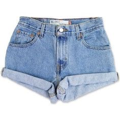 Denim Shorts Cuffed shorts rolled high waisted mid