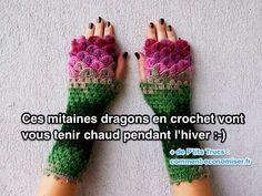 Ces Mitaines Dragons en Crochet Vont Vous Tenir Bien Chaud Pendant l'Hiver.
