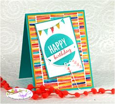 Stampin Up Celebrate Today card by Sandi @ www.stampingwithsandi.com