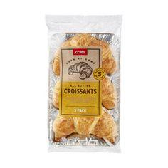 Coles Butter Croissants Butter Croissant, Snack Recipes, Snacks, Croissants, Oven, Chips, Baking, Food, Bakken