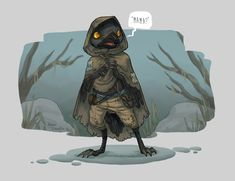 a small bird-like humanoid wearing a ragged cloak stands in front of a bit of foggy swampland. Fantasy Character Design, Character Creation, Character Concept, Character Inspiration, Character Art, Concept Art, Dnd Dragons, Dungeons And Dragons, Dnd Characters