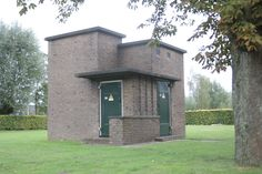 Transformatorhuisje in Amersfoort Amsterdam School, Gaudi, Vintage Designs, Netherlands, Holland, Entrance, Exterior, Architecture, Modern