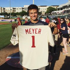 Photo: Peyton Meyer Happy About His Frisco RoughRiders Jersey July 26, 2015 - Dis411