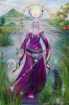 Lady of Avalon (Goddess Temple. Glastonbury, U. Mother Goddess, Goddess Of Love, Goddess Art, Celtic Goddess, Triple Goddess, Die Nebel Von Avalon, Mists Of Avalon, Symbole Viking, Pagan Art