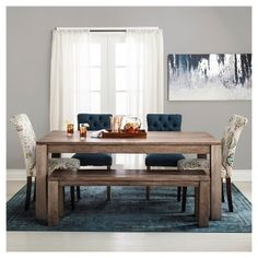 Braxton 72 Dining Table With BenchDining