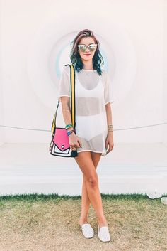 Best Coachella Outfits of 2016 - Street Style and Festival… Music Festival Outfits, Music Festival Fashion, Festival Wear, Music Festivals, Festival Coachella, Fashion Music, Creamfields Outfits, Rave Outfits, Vacation Outfits