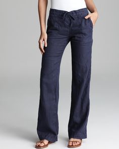 Michael Stars Pants - Linen Drawstring   Bloomingdale's
