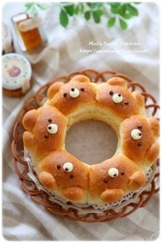 Kids Meals 16 Adorable Animal-Shaped Bread Recipes For Kids - Cute and cuddly carbs. Bread Recipes For Kids, Baby Food Recipes, Cooking Recipes, Children Recipes, Cooking Tips, Cute Food, Yummy Food, Bread Art, Bread Food
