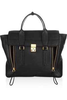 3.1 Phillip Lim | The Pashli large shark-embossed trapeze bag