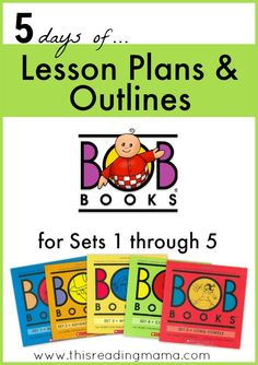 FREE Lesson Plans and Outlines for BOB Books Set 1, 2, 3, 4 ,and 5 - This Reading Mama