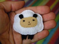 Felt sheep handmade broche