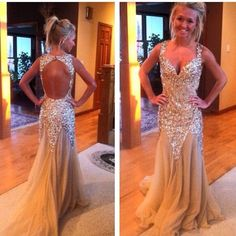 Dress: gold, long prom dress, party, party dress, homecoming dress ...