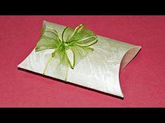 Geschenkbox basteln: Pillow Box für Geldgeschenke und Kleinigkeiten basteln! - YouTube