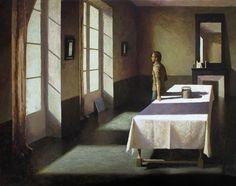 """Marc Chalmé, Par la fenêtre, 2013, Oil On Canvas, 45"""" x 57"""" #art #axelle"""