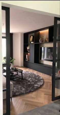 Apartment Interior Design, Modern Interior Design, Home Living Room, Living Room Designs, Happy New Home, Beautiful Home Designs, Home And Deco, Luxury Homes, New Homes
