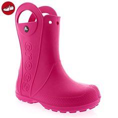 crocs Handle It Rain Boot, Unisex - Kinder Gummistiefel, Pink (Fuchsia), 24/25 EU