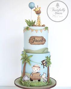 What a cute Safari theme birthday cake 😊 . 📸 @tastefullyyourscakeart # # #cake #americancakedecorating #acdmagazine #cakedecorating #cakedecorator #cakes #cakelover #cakestagram #instaphoto #cakeartist #cakeart #sugar #sugarart #design #food #cakeoftheday #buttercreamcake #fondant #pastrychef #pastry #pastryart #bakery #cakedecor #celebration #giraffe #safari #cremedelacreme #cakedesign