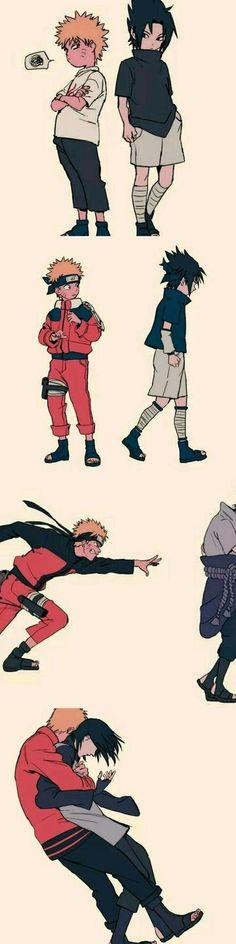 Naruto Vs Sasuke, Naruto Uzumaki Shippuden, Anime Naruto, Art Naruto, Naruto Comic, Naruto Cute, Sasunaru, Boruto, Manga Anime
